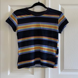 3/35 NWOT UO Striped Little Brother Crew Neck Tee